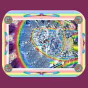 Psychedelic trip mouse pad