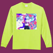 Dancing Girl with sitting woman on the backside of the Long sleeve T Shirt